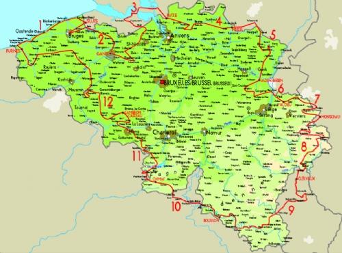 carte gps Belgique